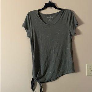 Juicy Couture sparkle asymmetrical shirt large